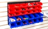 Wall-Mounted Parts Rack with 30 Bins: Wall-Mounted Parts Rack with 30 Bins