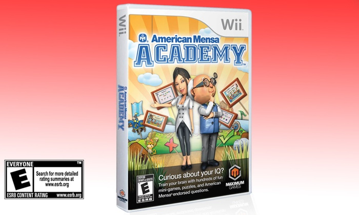 American Mensa Academy for Wii: $12.99 for Maximum Games American Mensa Academy for Nintendo Wii ($29.96 List Price). Free Returns.