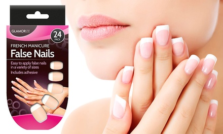 Hasta 3 packs de uñas postizas de manicura francesa
