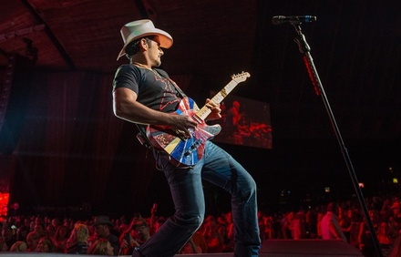 Brad Paisley with Hank Williams, Jr. and Tyminski on Saturday, July 7, at 7:15 p.m.