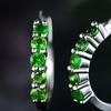 Peermont Lab-Created Emerald Hoop Earrings