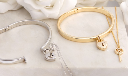 Unlock My Heart Bracelet and Necklace with Crystals from Swarovski® from £14.99 With Free Delivery (Up to 58% Off)