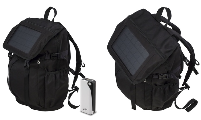 b3b6bd6599f4 Up To 40% Off on iLive Solar-Charging Backpack | Groupon Goods