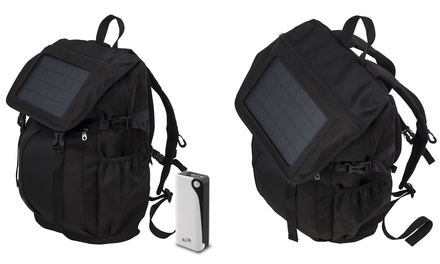 iLive Solar-Charging Backpack with 4000mAh Backup Battery