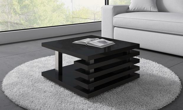 Tavolino da salotto oslo groupon goods for Tavolino salotto nero