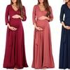 Women's Faux Wrap Maxi Maternity Dress (Sizes M & L)
