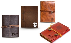 Up to 94% Off a Monogrammed Leather Journal at Monogramhub.com, plus 6.0% Cash Back from Ebates.