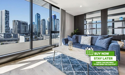 Melbourne: Two-Night City Break for Up to Six with Wine, Late Check-Out and Parking at Melbourne City Apartments - Teri
