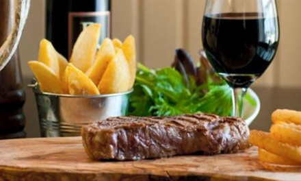 10oz Steak Meal for Two or Four at The Pub and Kitchen (Up to 48% Off)