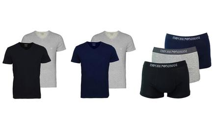 Lots de 2 t shirts ou 3 boxers Armani