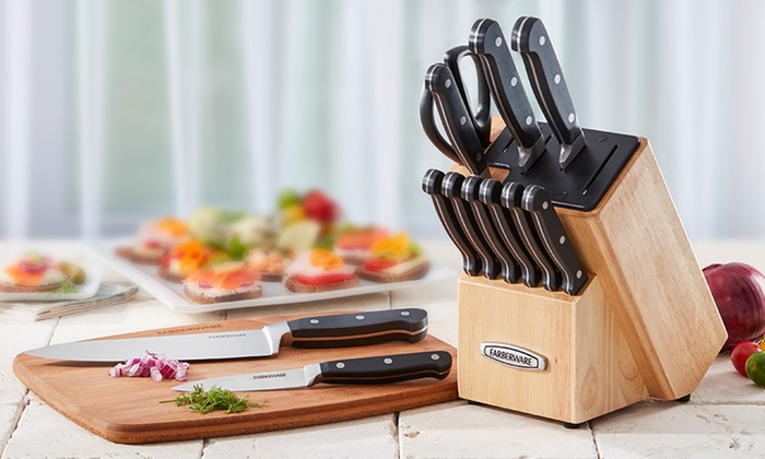 farberware self-sharpening edgekeeper forged cutlery set (13-piece