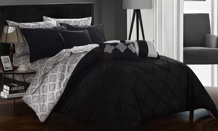 Rope-Pleat Comforter Set (10-Pc)