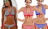 Bikini con diseño marinero