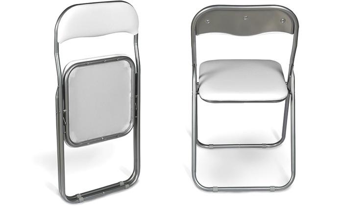 Sedie Pieghevoli Imbottite : Set di sedie pieghevoli groupon goods