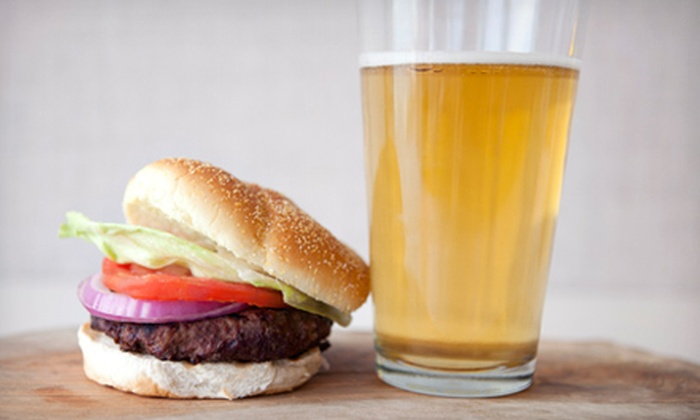 Snooker's Pool & Pub - Livonia: $12 for Burgers or Sandwiches with Drinks for Two at Snooker's Pool & Pub (Up to $24.48 Value)