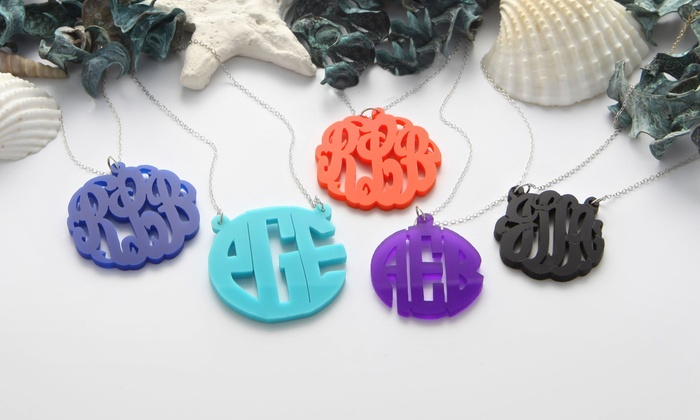 Monogram Online: $17.99 for a Custom Acrylic-Monogram Necklace from Monogram Online ($79 Value)