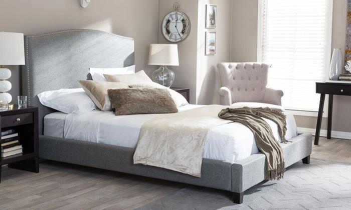 aisling upholstered platform beds aisling upholstered platform beds available in queen or king sizes - Upholstered Platform Bed