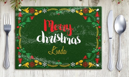 Personalised Christmas Placemat: One $12.99, Two $24.99, Three $33.99 or Four $39.99 Don't Pay up to $199.96