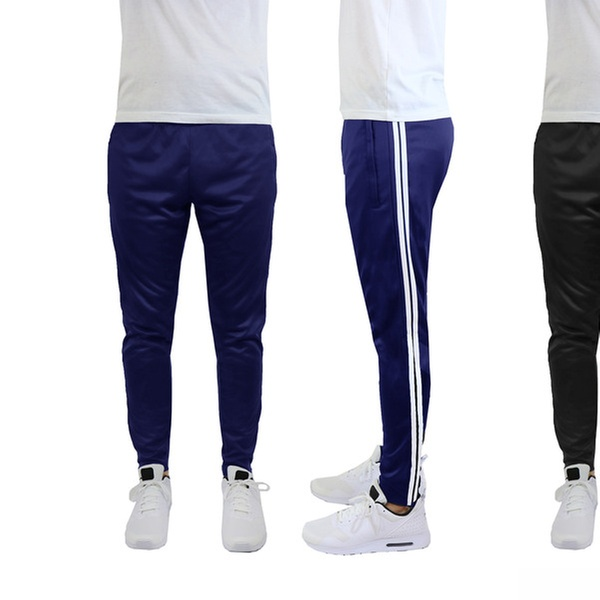 new arrivals stable quality best website Men's Striped Moisture-Wicking Jogger Track Pants (2-Pack) | Groupon