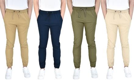 Verdo Men's Slim-Fit Stretch Twill Jogger Pants (S-XL)