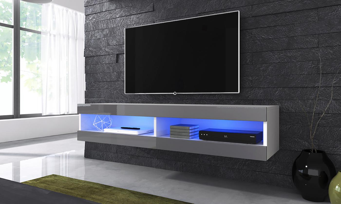 Volant Floating TV Cabinet with Optional LED Lights (£75.99)