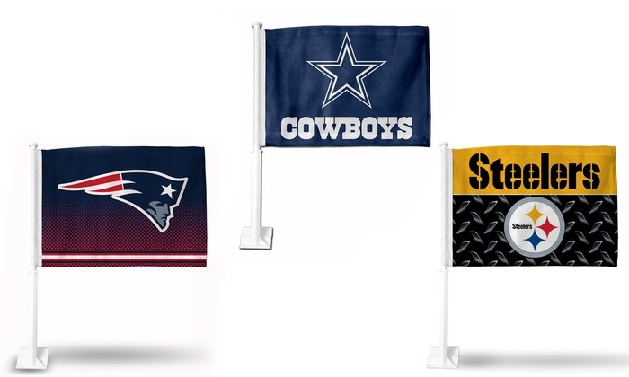 NFL Logo Car Flag
