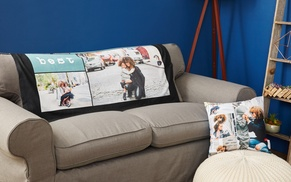 Up to 75% Off Custom Pillows and Blanket from Collage.com at Collage.com, plus 6.0% Cash Back from Ebates.