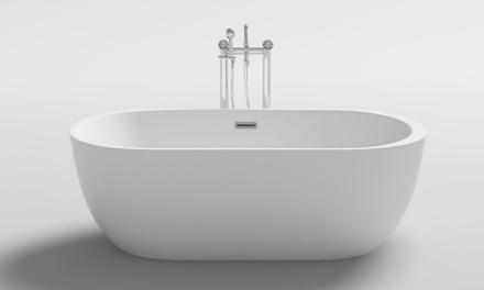 Home Deluxe freistehende Badewanne im ovalen oder runden Design (Frankfurt)