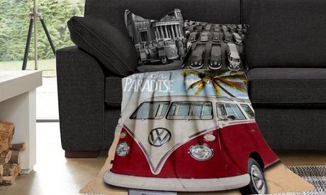 Manta de felpa con estampado Volkswagen
