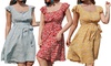 Square Neck Mid-Length Dress