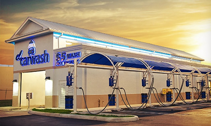 El Car Wash - Multiple Locations: $12.50 for One Month of Unlimited Car Washes at El Car Wash ($24.99 Value)