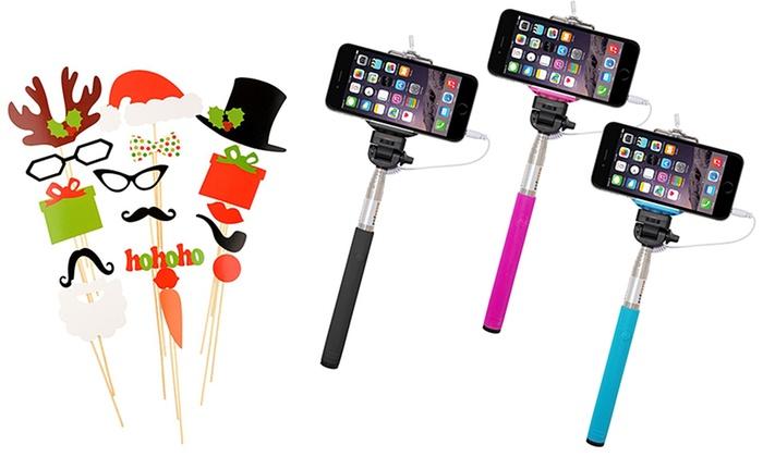 selfie stick and christmas props groupon goods. Black Bedroom Furniture Sets. Home Design Ideas