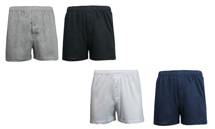 Men's Galaxy By Harvic Soft-Knit Tagless Boxers (6-Pack)
