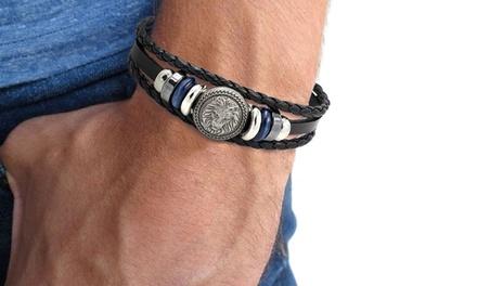 1, 2 ou 4 bracelets Leo pour hommes