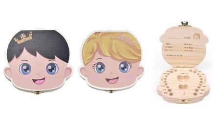 1 o 2 cajas de madera para proteger dientes y cabello del bebé