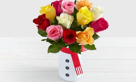 $20 Holiday Bouquets in Snowman Vase from ProFlowers (Up to 50% Off). Two Options Available.