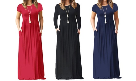 Robe longue casual Julietta, manches courtes ou longues