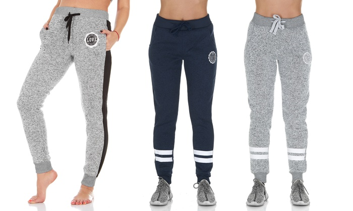 factory outlet factory price custom Women's Love Soft & Comfy Fleece Jogger Sweatpants | Groupon