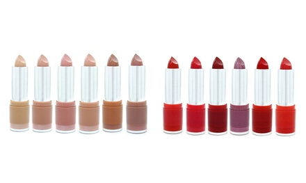 One or Two W7 Red, Pink or Nude Lipstick Six-Packs