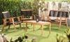 Garden Gear Acacia Black String Sofa Set