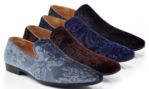 Henry Ferrera Men's Slip-On Smoking Shoes