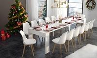 Ensemble table extensible 300 cm avec ou sans 4, 8 ou 12 chaises, livraison offerte