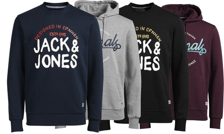 Jack & Jones Hoodie or Sweatshirt in Choice of Size and Colour for £24.98
