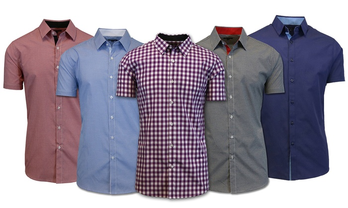 Galaxy By Harvic Men's Slim Fit Shirts (Available in Extended Sizes)