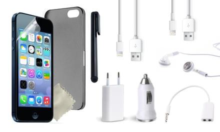 Set daccessoires 10 en 1 pour iPhone ou Samsung Galaxy