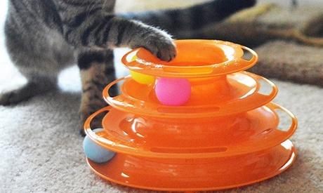 1x oder 2x interaktives Katzenspielzeug mit 3 Etagen und 3 Bällen ohne Ortsangabe