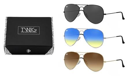 Gafas de sol estilo aviador Twig Concept Milano