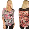 Casually Cute Women's Floral Lace Back Top