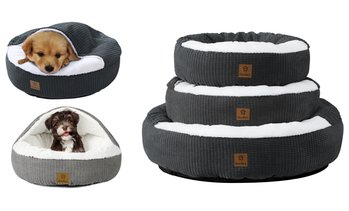 Cushioned Hooded Pet Bed