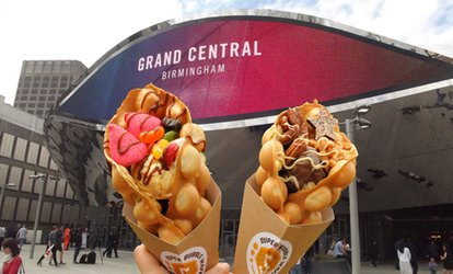 Bubble Waffle and Milkshake for Up to Four at Super Bubble Station, Birmingham Bullring (Up to 51% Off)